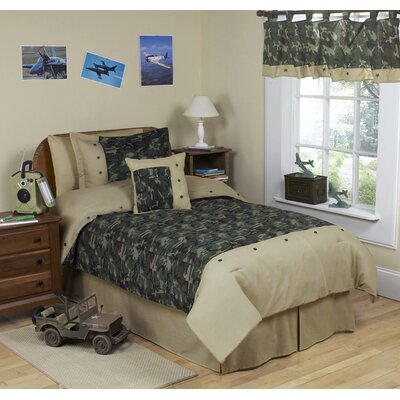 Sweet Jojo Designs Green Camo Kid Bedding Collection