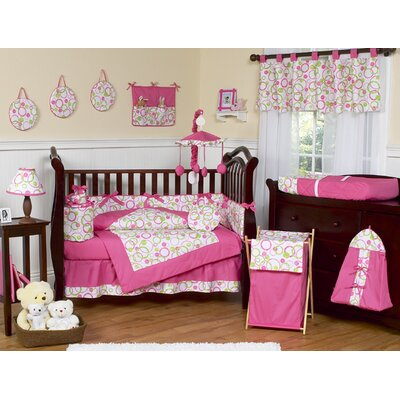 Circles Pink Mod Crib Bedding Collection