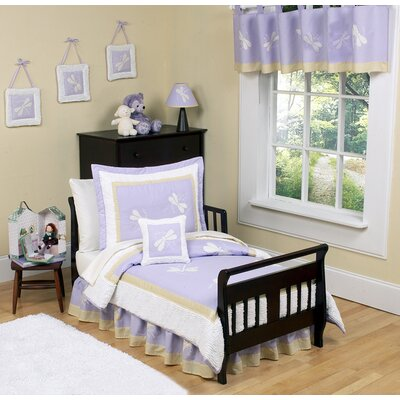 Sweet Jojo Designs Purple Dragonfly Dreams Toddler Bedding Collection 5 Piece Set