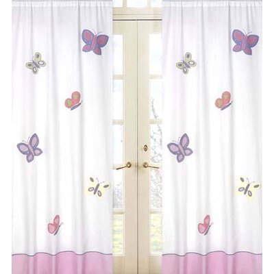 Sweet Jojo Designs Butterfly Cotton Curtain Panel