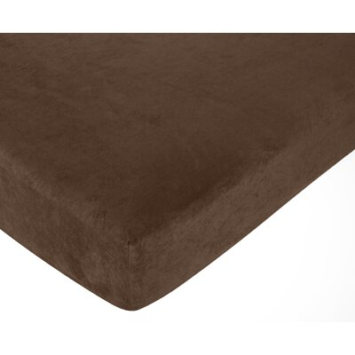 Chocolate Fitted Crib Sheet