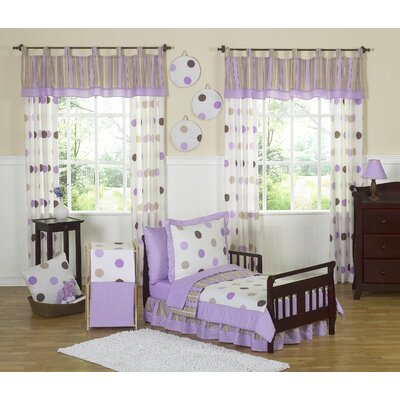 Sweet Jojo Designs Mod Dots Purple Toddler Bedding Collection 5 Piece Set