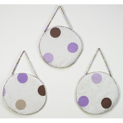 Sweet Jojo Designs Mod Dots Purple Collection Wall Hangings