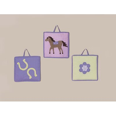 Sweet Jojo Designs Pony Collection Wall Hangings