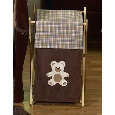 Sweet Jojo Designs Teddy Bear Chocolate Laundry Hamper