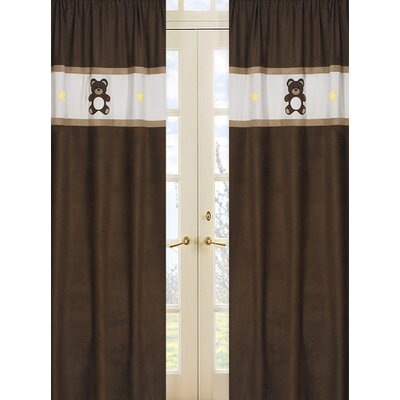 Sweet Jojo Designs Teddy Bear Pink Curtain Panel  (Set of 2)