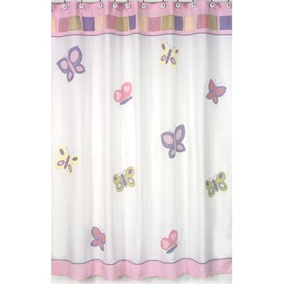 Sweet Jojo Designs Butterfly Shower Curtain