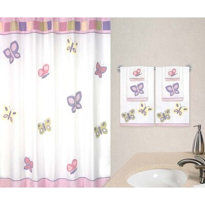 Sweet Jojo Designs Butterfly Pink and Purple Collection Shower Curtain