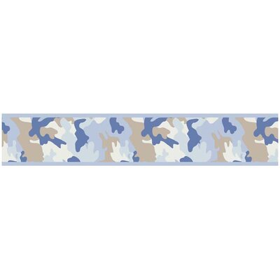 Camo Blue Collection Wall Paper Border