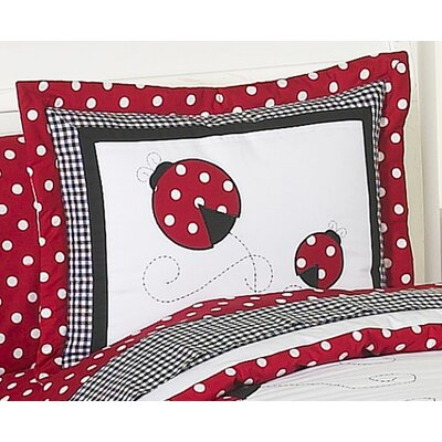 Sweet Jojo Designs Little Ladybug Collection Standard Pillow Sham