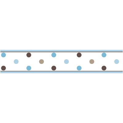 Mod Dots Blue Collection Wall Paper Border