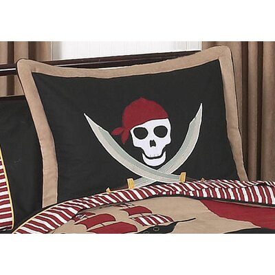 Sweet Jojo Designs Pirate Treasure Cove Collection Standard Pillow Sham