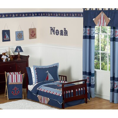 Sweet Jojo Designs Nautical Nights 5 Piece Toddler Bedding Collection