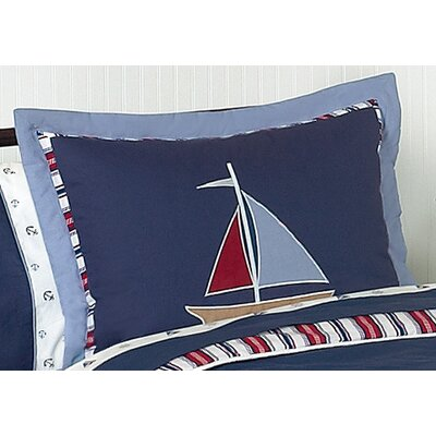 Sweet Jojo Designs Nautical Nights Collection Standard Pillow Sham