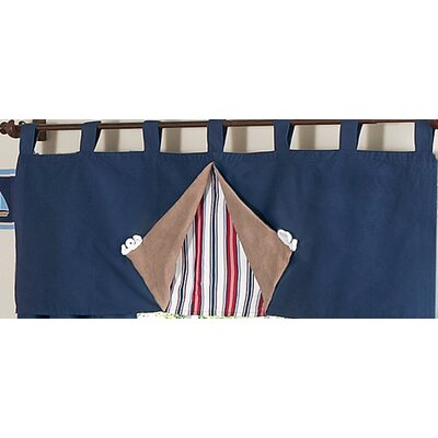 Sweet Jojo Designs Nautical Nights Tab Top Tailored Curtain Valance