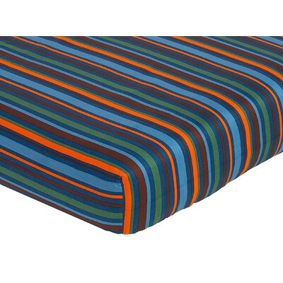 Sweet Jojo Designs Surf Fitted Crib Sheet