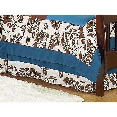 Sweet Jojo Designs Surf Blue Collection Toddler Bed Skirt