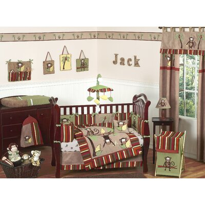 Sweet Jojo Designs Monkey Time Crib Bedding Collection