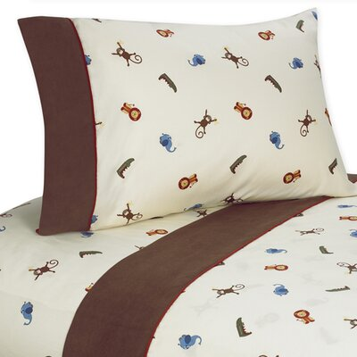 Sweet Jojo Designs Jungle Time Sheet Set