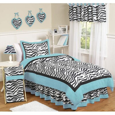 Sweet Jojo Designs Turquoise Funky Zebra Kid Bedding Collection