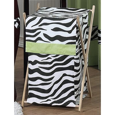 Sweet Jojo Designs Zebra Lime Laundry Hamper