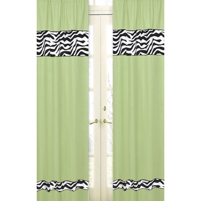 Sweet Jojo Designs Zebra Curtain Panel Pair