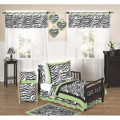Lime Funky Zebra Toddler Bedding Collection