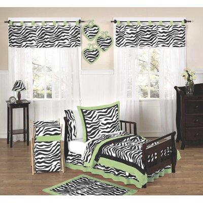 Sweet Jojo Designs Zebra Lime Funky Toddler Bedding Collection