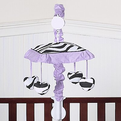 Sweet Jojo Designs Purple Funky Zebra Musical Mobile