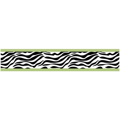 Sweet Jojo Designs Zebra Lime Collection Wall Paper Border