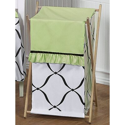 Sweet Jojo Designs Princess Black, White and Green Laundry Hamper