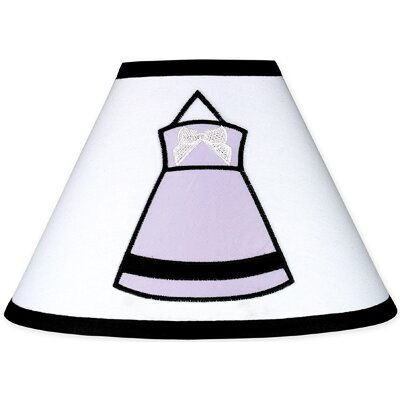 Sweet Jojo Designs Princess Black, White and Purple Collection Lamp Shade