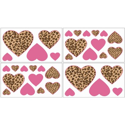 Cheetah Pink Collection Wall Decal Stickers