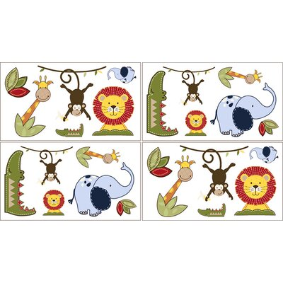 Jungle Time Collection Wall Decal Stickers