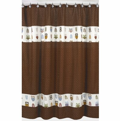 Sweet Jojo Designs Happy Owl Cotton Shower Curtain