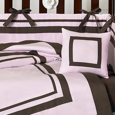 Sweet Jojo Designs Pink and Chocolate Hotel Baby Crib Bedding Collection