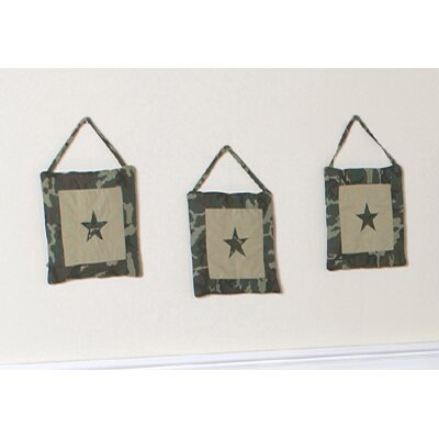 Sweet Jojo Designs Camo Green Collection Wall Hangings