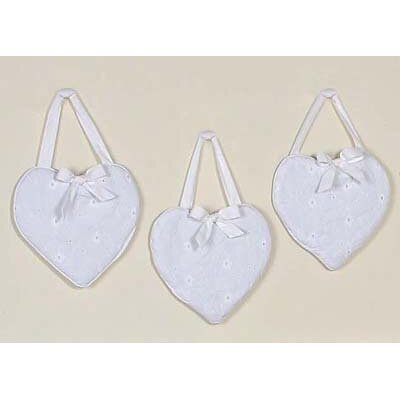 Sweet Jojo Designs Eyelet White Collection Wall Hangings (Set of 3)