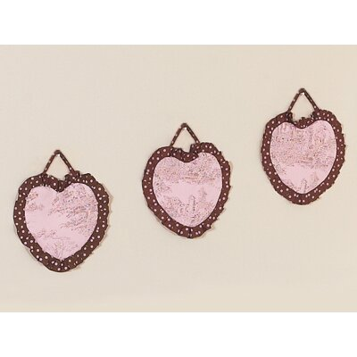 Sweet Jojo Designs Pink and Brown Toile Collection Wall Hangings