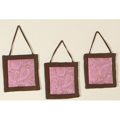 Sweet Jojo Designs Pink Paisley Collection Wall Hangings