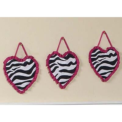Sweet Jojo Designs Zebra Pink Collection Wall Hangings