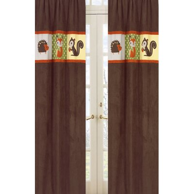 Sweet Jojo Designs Forest Friends Rod Pocket Curtain Panel