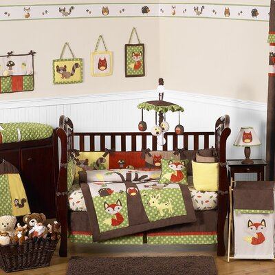 Sweet Jojo Designs Forest Friends 9 Piece Crib Bedding Collection