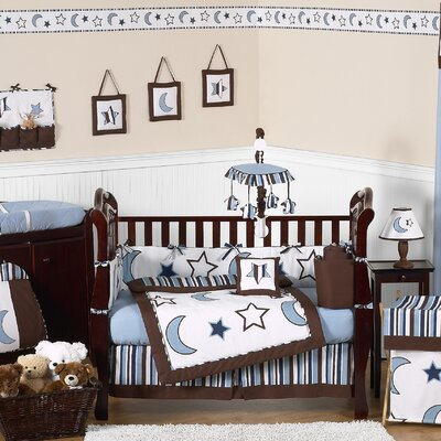 Starry Night 9 Piece Crib Bedding Collection