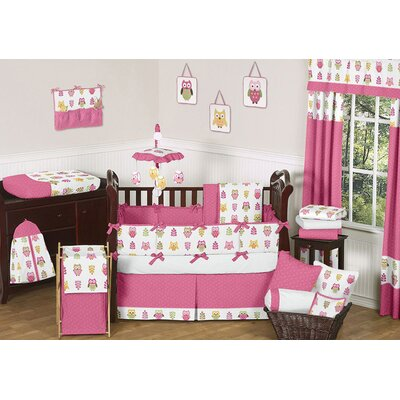 Sweet Jojo Designs Happy Owl 9 Piece Crib Bedding Set