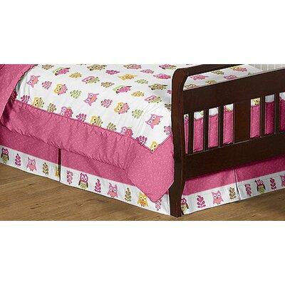 Sweet Jojo Designs Owl Pink Collection 5pc Toddler Bedding Set
