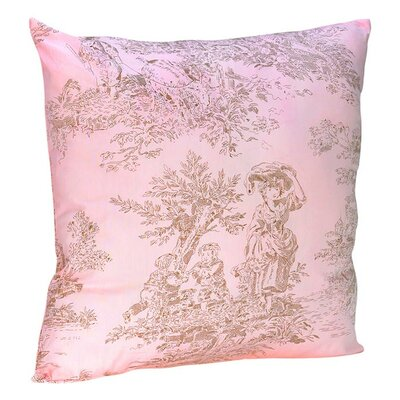 Sweet Jojo Designs Pink and Brown Toile Decorative Pillow with Toile Print