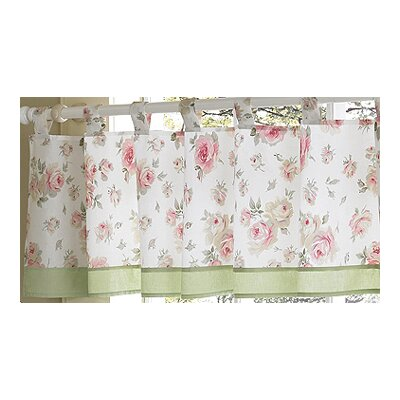 Sweet Jojo Designs Riley's Roses Cotton Curtain Valance