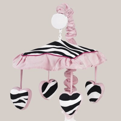 Sweet Jojo Designs Zebra Pink Collection Musical Mobile