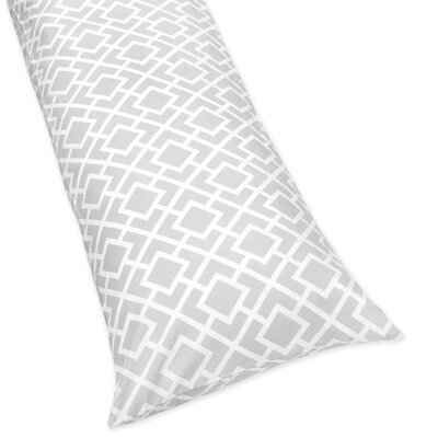 Sweet Jojo Designs Diamond Gray and White Collection Body Pillow Case